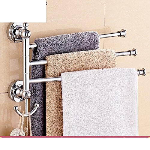best Revolving towel rack/Stainless steel Towel Bar activities/Bathroom towel hanging rods-B