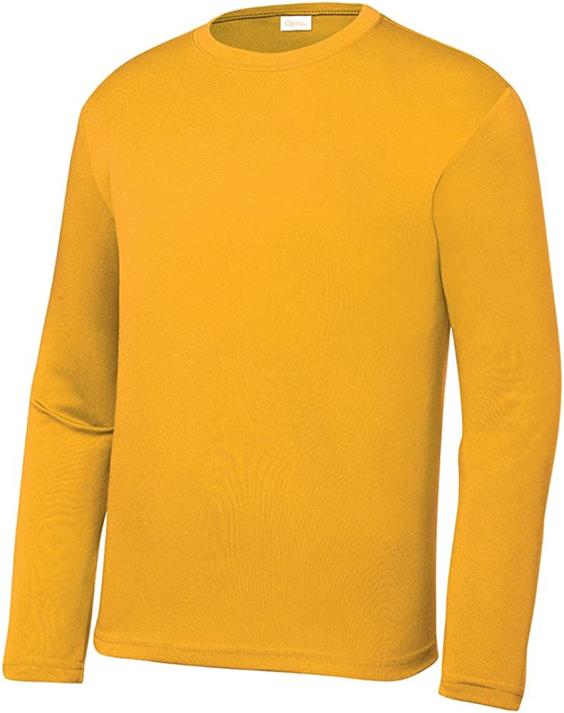 Opna Youth Athletic Performance Long Sleeve Shirts for Boy's or Girl's – Moisture Wicking