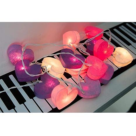 LED Luz Cadena batería operativos, frashing Forma de Corazón ...