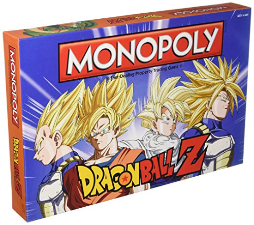 Monpoly Dragon Ball Z Board Game | Recruit legendary warriors like GOKU, VEGETA and GOHAN | Official Dragon Ball Z Anime Series Merchandise | Themed Monopoly Game