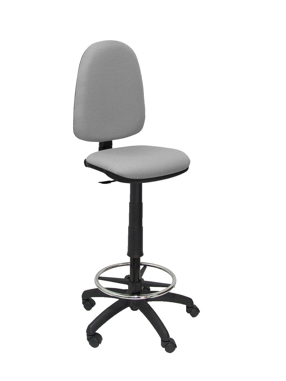 Piqueras y Crespo T04CP - Tabouret ergonomique - réglable en hauteur avec repose-pieds gris