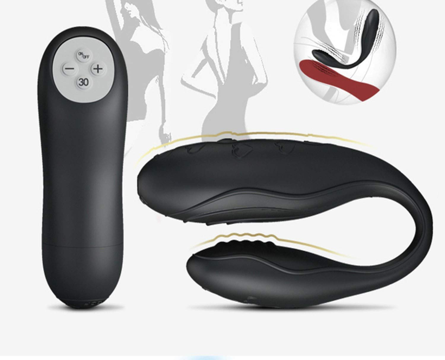 Love Owner Tshirt Vibrating Bullet Baile Indulgence Wireless Remote Control 3-Speed Plus 30 Function Vibrator We Design Vibe 4 Adult for Couples,with Box,30 Speed Dual Vibration G Spot Vibrators YA