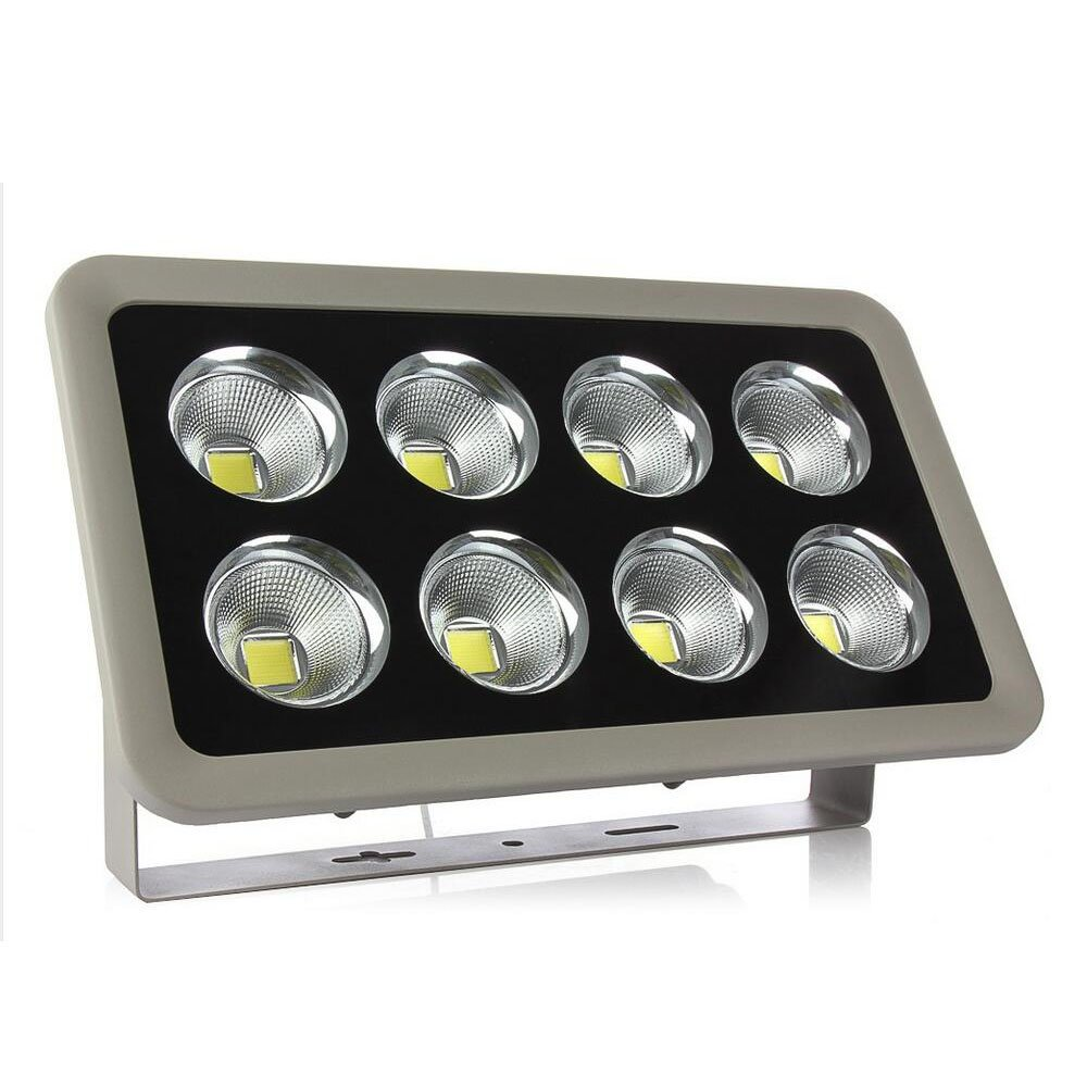 Yahe LED Flood Light,8 COB Led Chips 400W Light Fixture Warm White Waterproof IP66,120-Degreen Beam Angle High Power Outdoor Security Light For Landscape Garden Stage Court Lighting 85-265V