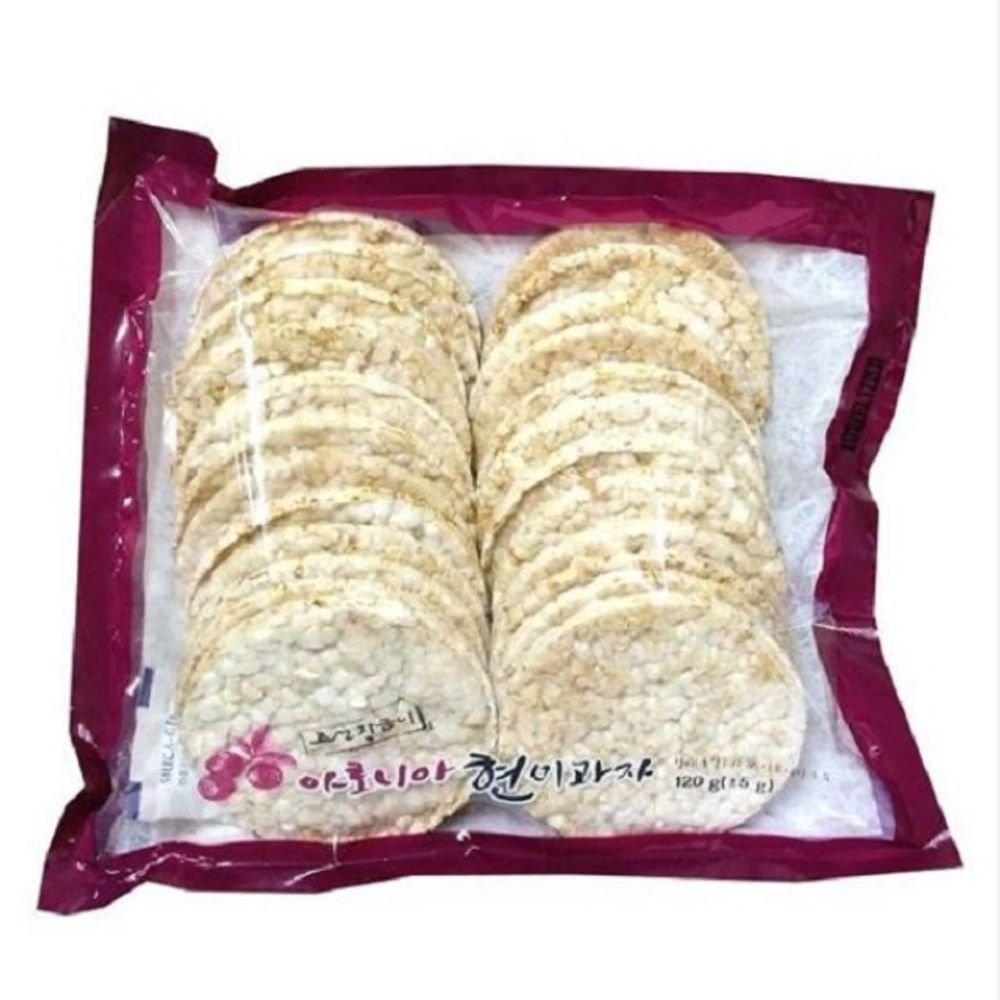 Korean Brown rice cake snack 120g 2 bags by Mampu