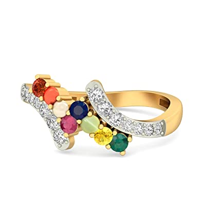 Buy Aucent by PC Jeweller Tanishq 14k Yellow Gold and Diamond Ring