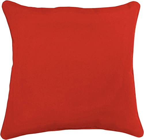BrylaneHome 20 Sq. Toss Pillow Patio Cushion, Red