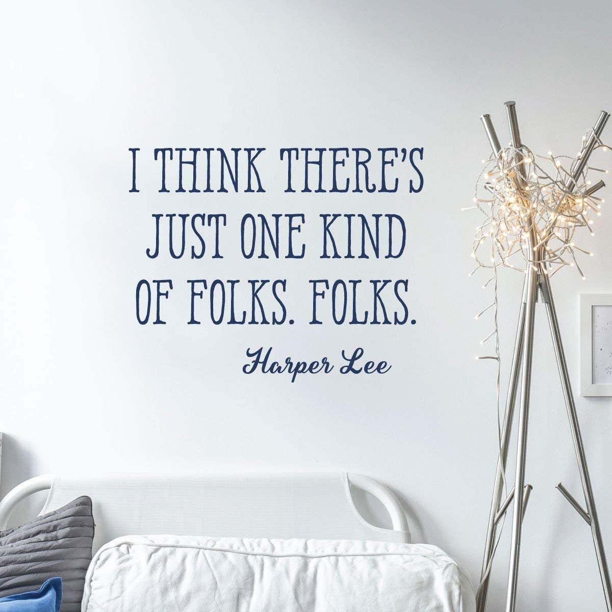 Wall Quote Decal One Kind of Folks Harper Lee to Kill A Mockingbird Author Book Quote Inspirational Motivational Wall Art Vinyl Wall Decal