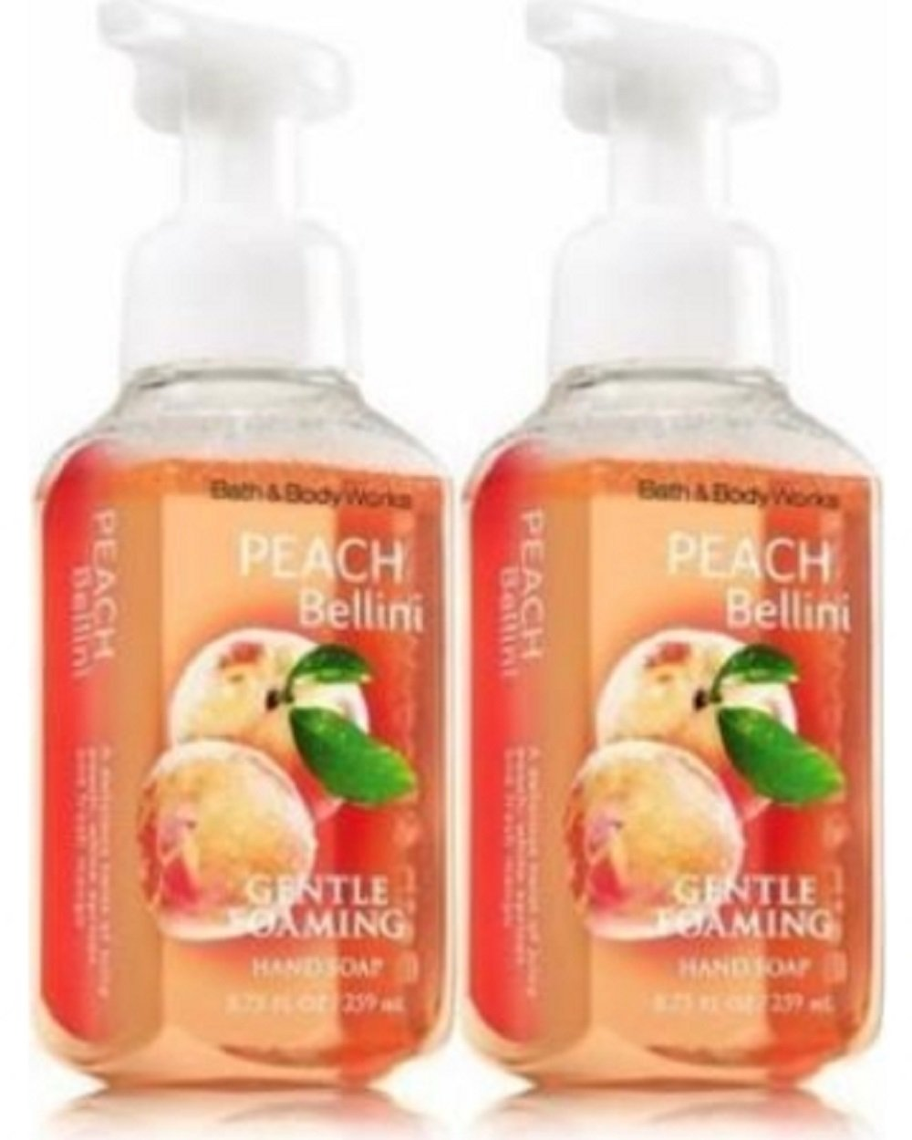 Bath and Body Works Gentle Foaming Hand Soap, Peach Bellini 8.75 Ounce (2-Pack)