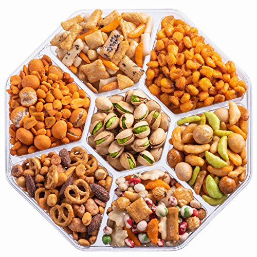 Nut Haven Holiday Nuts Christmas Gift Basket | Tasty Assortment of Crackers, Pretzels, Nuts & More | - http://coolthings.us