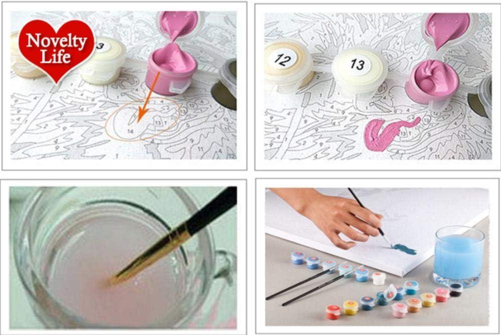 Pintura Digital Cuadros De Regalo Pintados A Mano De Elefante Por N/úmeros Decoraci/ón Del Hogar 50X40 cm Sin Marco