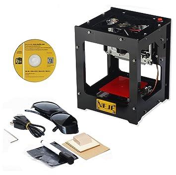 WER Máquina de grabado 1500mW/ 6000mAh mini grabador láser ...