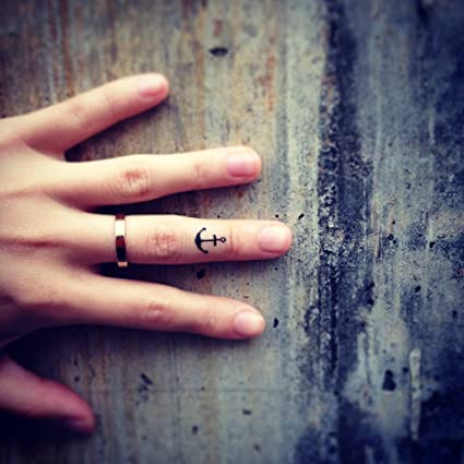 Tatuaje Temporal de Pequeño ancla delgada (4 Piezas) - www.ohmytat ...