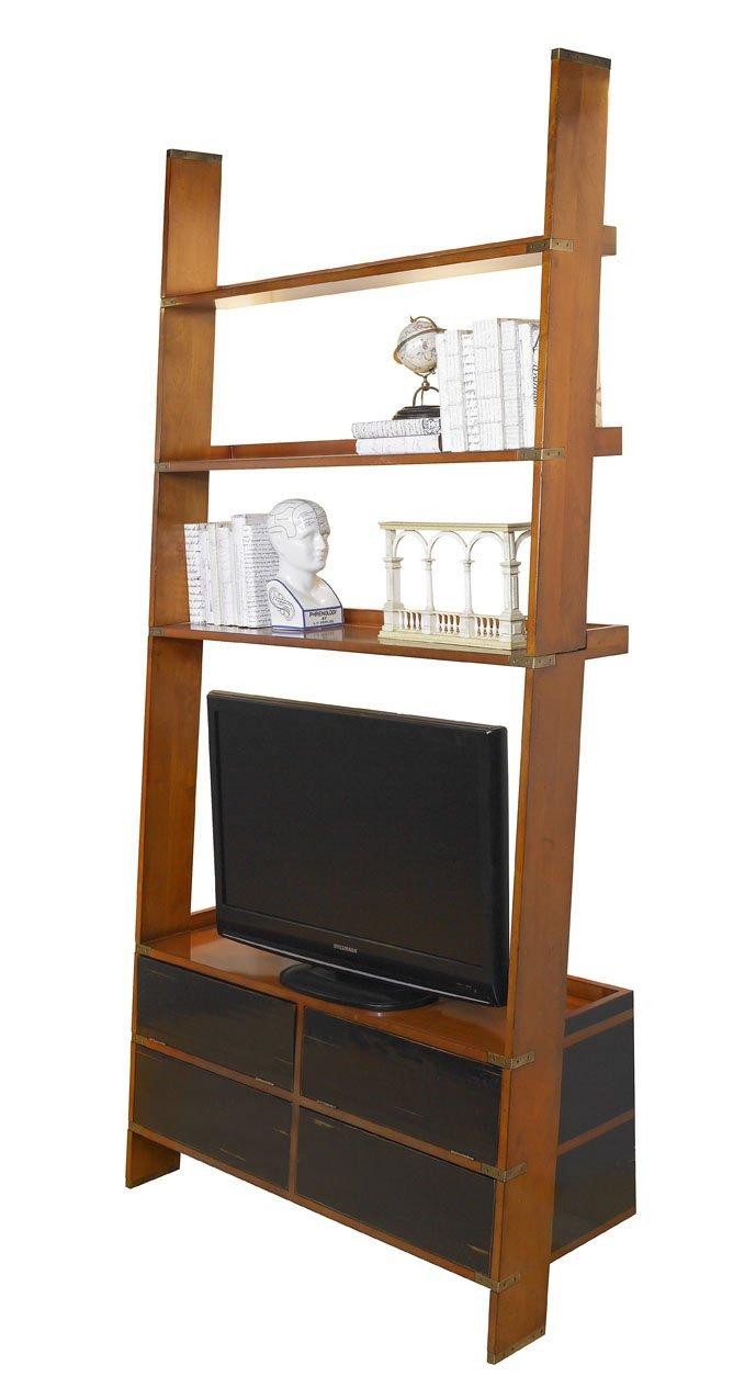 Authentic Models Gallery TV Schrank / Leiter, Möbel in Military und Navy Stil