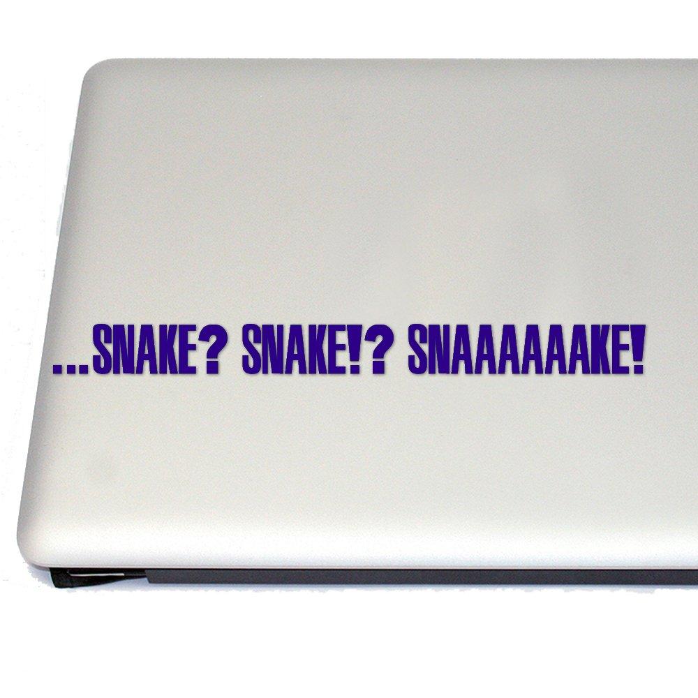 Snake? Snake?! Snaaaaake! Vinyl Decal (Sapphire Blue)