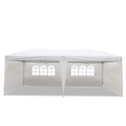 Ez Up Canopy 10x20 >> Goutime 10x20 Ft Ez Pop Up Canopy Tent With 4pcs 10ft Removable Sidewalls And Wheeled Bag For Outdoor Party Events