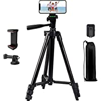 "Phone Tripod, LINKCOOL 42"" Aluminum Lightweight Portable Camera Tripod for iPhone/Samsung/Smartphone/Action Camera/DSLR…"