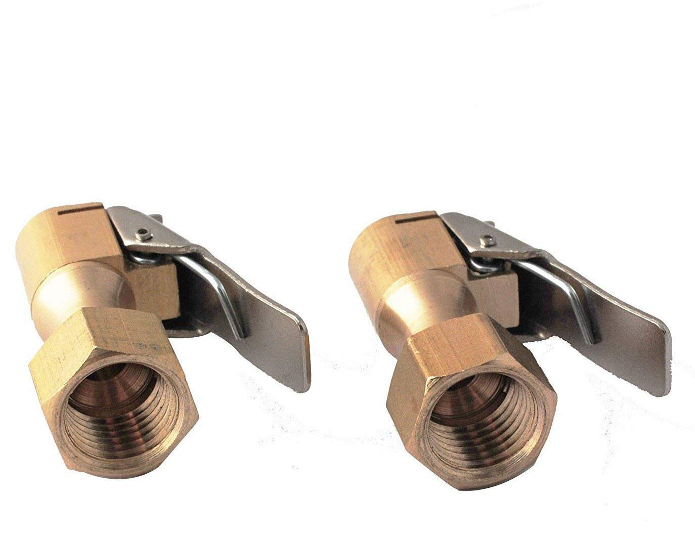 Podoy Air Chuck Open 1/4'' Flow Straight Lock-On with Clip for Tire Inflator (2 Pack) 10U0627