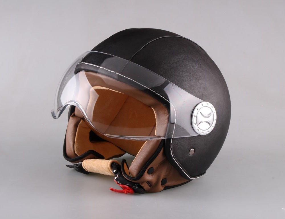 AL Helmets CASCO DEMI-JET MOD. 101 PELLE NERO MISURA L AL Rappresentanze 10248