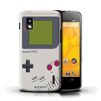 Carcasa/Funda STUFF4 dura para el LG Nexus 4/E960 / serie: Consola de juegos - Nintendo game boy