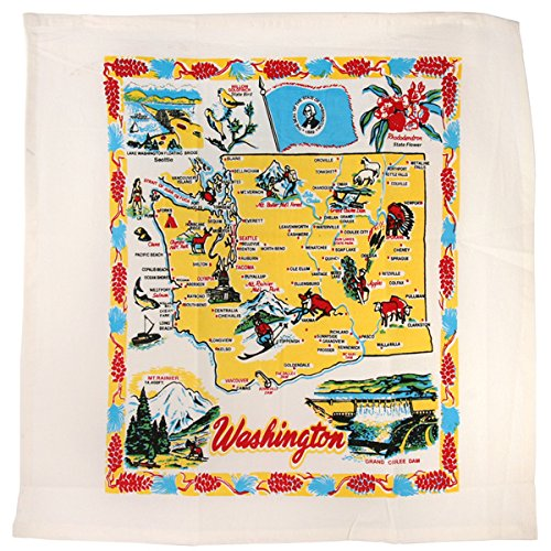 Washington State Souvenir Dish Towel