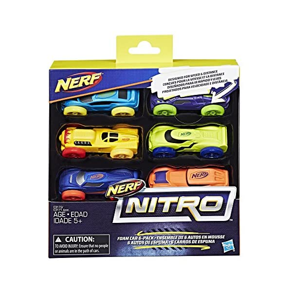 Nerf Nitro Foam Car 6-Pack Version-2