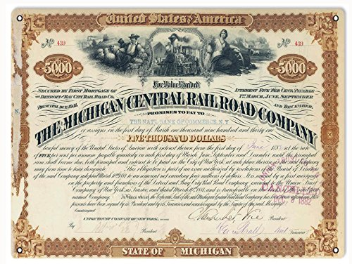 Reproduction The Michigan Central Railroad Company Stock Certificate ()