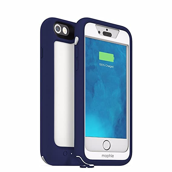 half off 25999 b4f98 mophie Juice Pack H2PRO - Waterproof Mobile Protective Battery Pack Case  for iPhone 6/6s - Blue