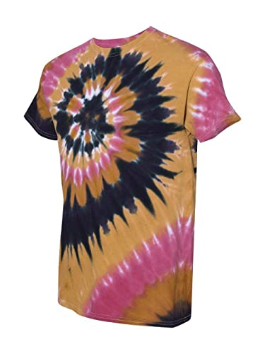 ac0960b763cf Amazon.com: Dyenomite Tie Dye Multi Color Spiral T-shirt: Clothing