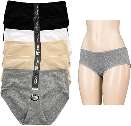 12 Pack Mujeres Ropa Interior Slip bragas Bikini cobertura total ...