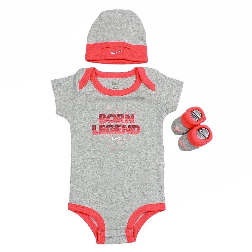 Nike niño niños Nacido Conjunto de Color Gris Oscuro (Leyenda ...