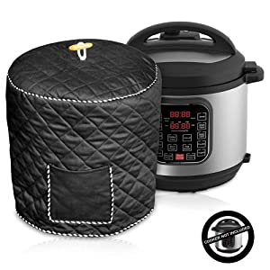 Pressure Cooker Cover, Anti-Static Dust Cover for 8 Quart Instant Pot and Electric Pressure Cooker, Kitchen Appliance Cover with Pocket for Accessories