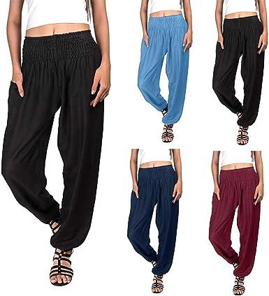 Pantalones Anchos Deportivos Para Mujer Pantalon Baggy Deporte Mujeres Yoga Fitness Ejercito Gym Pantalones Leggings Sueltos Talla Grande Amazon Es Ropa Y Accesorios