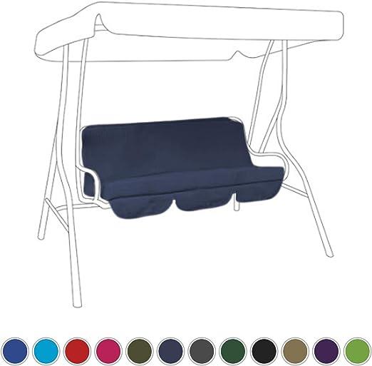 Cojines resistentes al agua para balancín o columpio de jardín, color azul marino: Amazon.es: Jardín