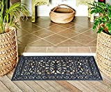 """A1HC FIRST IMPRESSION Audie Modern Indoor/Outdoor 23.62"""" L x 47.25"""" W Easy Clean Rubber Entry Way Doormat For Patio, Front Door, All Weather Exterior Doors/Large Size for Double Doors"""