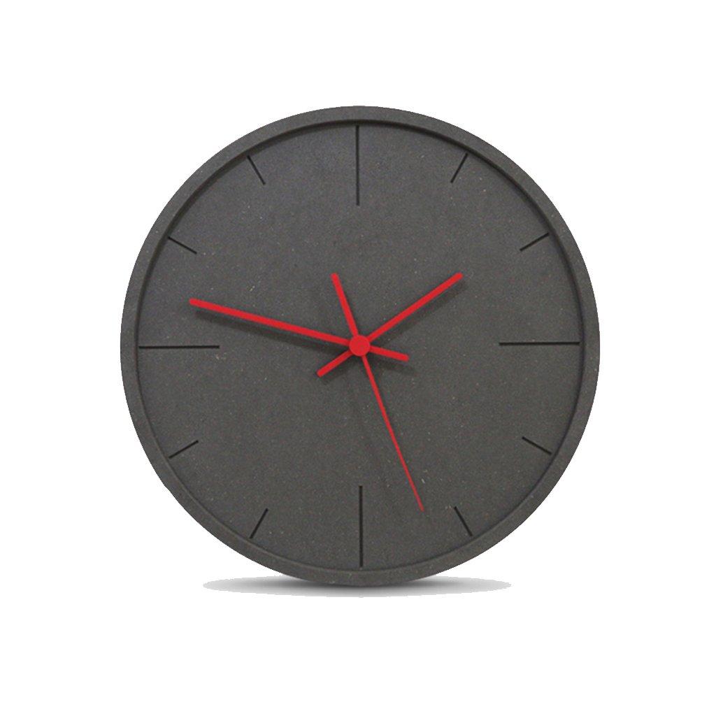 LINGZHIGAN 12インチウォールクロッククリエイティブウォールクロックのファッショントレンドモダンなホームベッドルームクォーツ時計ミュートピュアカラー (色 : Red) B07FF486BDRed