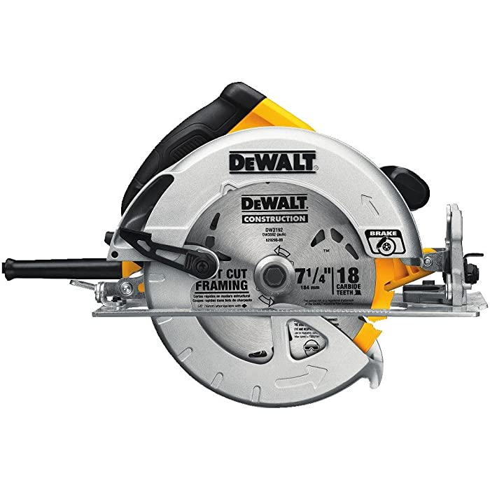 DEWALT DWE575SB 7-1/4-Inch Lightweight Circular Saw with Electric Brake