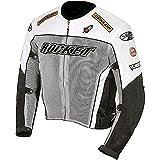Joe Rocket Men's UFO 2.0 Mesh Motorcycle Jacket (Grey, Large)
