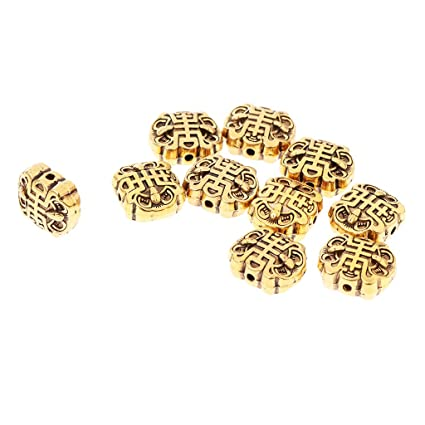 e6adb20d0 Image Unavailable. Image not available for. Color: D DOLITY 10PCS Nepal  Handmade Tibetan Beads Brass ...
