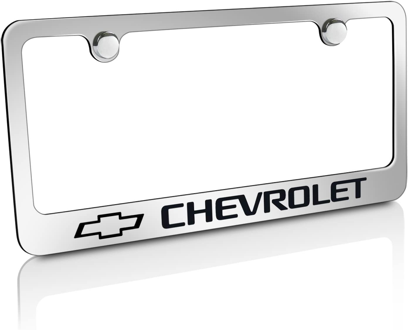 Chevrolet Impala SS Genuine Carbon Stainless Steel 3D Logo Finish License Plate