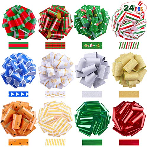 Jeicy 24 Pack Ribbon Pull Bows (5