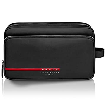 da192416165d Amazon.com   Prada Luna Rossa Extreme Cosmetic Case Toiletries Pouch  Shaving Kit Bag   Beauty