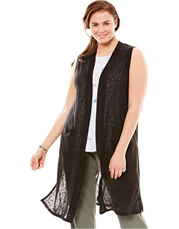 698cf617a4d Woman Within Women s Plus Size Knit Duster Vest
