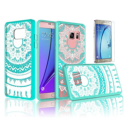 samsung-galaxy-a7-2016-case-sunroyal-retro-totem-mandala-floral-pattern-clear-acrylic-pc-hard-back-t