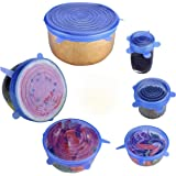 6pcs/Set Silicone Stretchable Universal lids Food wrap Silicon Stretch lids