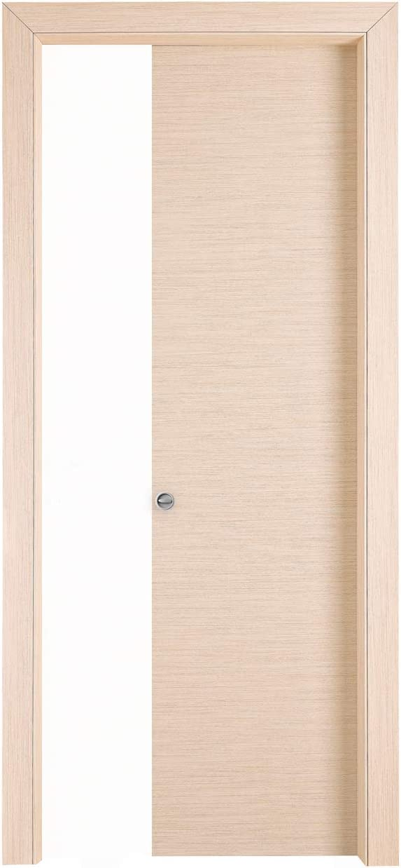 Puerta corredera interior pared Torino 400 N roble blanqueado, cm ...