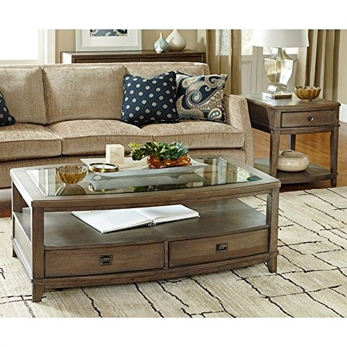 American Drew Park Studio 2 Piece Coffee Table Set in Taupe (American Drew Cocktail Table)