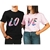 Love Matching Couple Shirts Husband and Wife Valentines Day Tee Honeymoon Anniversary Set