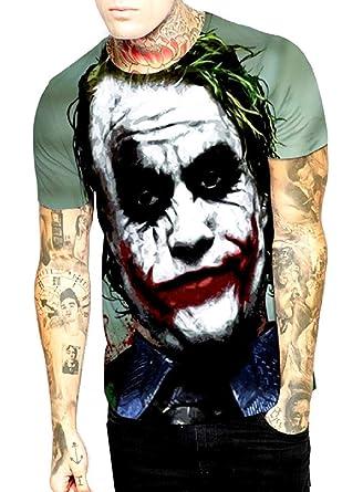 Camiseta de Hombre Joker - Caballero Oscuro - 3D - Manga Corta ...