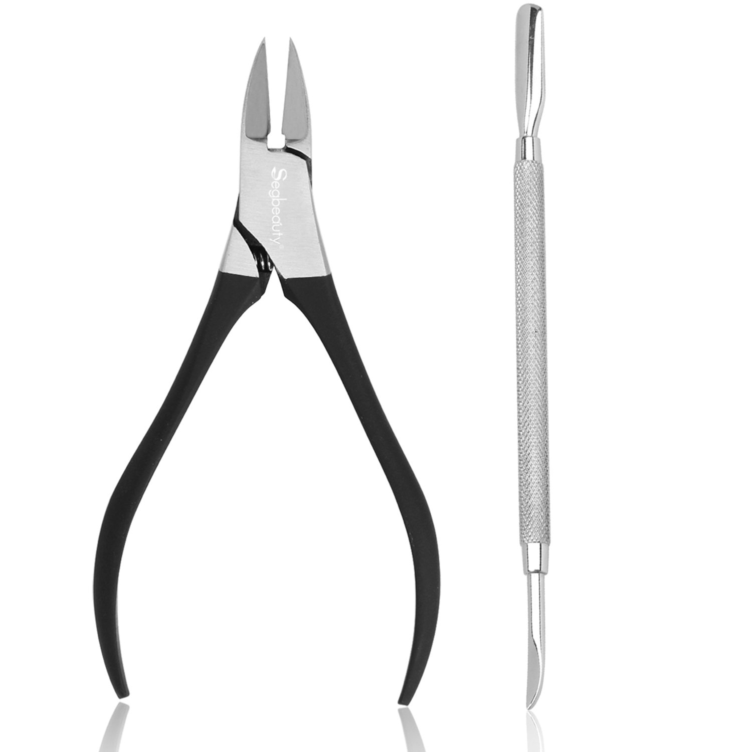Nail Salons Manicure Pedicure Nail Clipper Set Nail Art Kit by Segbeauty, Stainless Steel Nail Nipper Cuticle Pusher 1/2 Jaw Ingrown Toenail Remover, Professional Nail Care Cuticle Trimmer