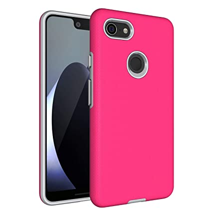 quality design 461d2 3eea6 Google Pixel 3 XL Case,Pixel 3 XL [Non-slip] [Drop Protection] [Shock  Proof] [Dual Lawyer] Hybrid Defender Armor Full Body Protective Rugged  Holster ...
